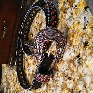 💕Harley-Davidson size medium Crystal belt
